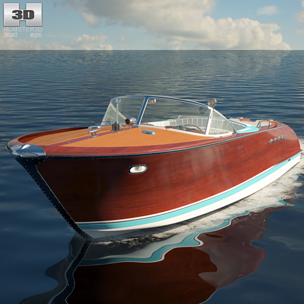 Riva Aquarama Wooden Runabout 3D model