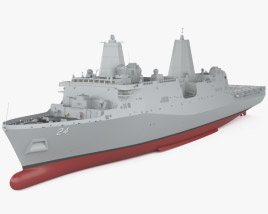 3D model of San Antonio-class amphibious transport dock