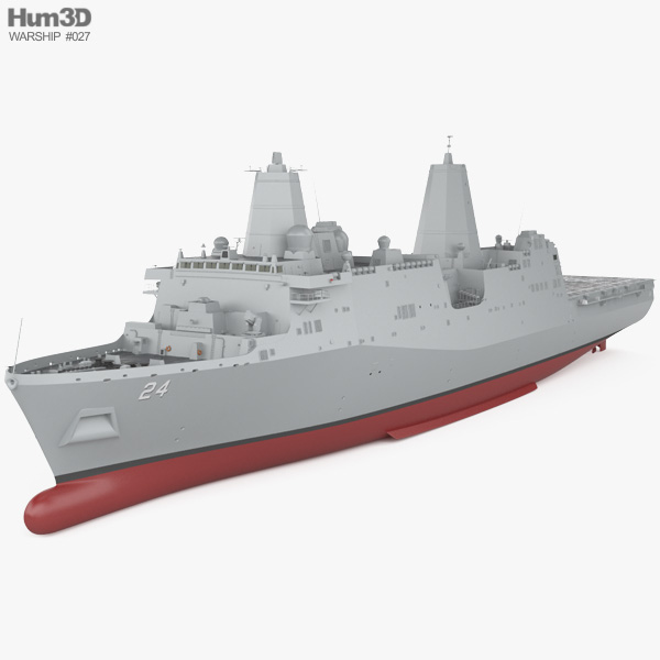 San Antonio-class amphibious transport dock 3D model