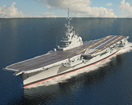 3D model of Sao Paulo aircraft carrier