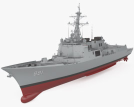 3D model of Sejong the Great-class destroyer