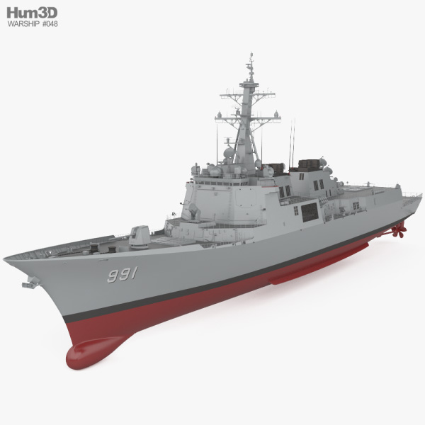 Sejong the Great-class destroyer 3D model