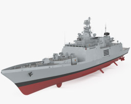 3D model of Shivalik-class frigate