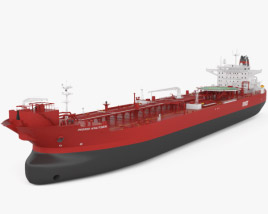 3D model of Shuttle Tanker Ingrid Knutsen