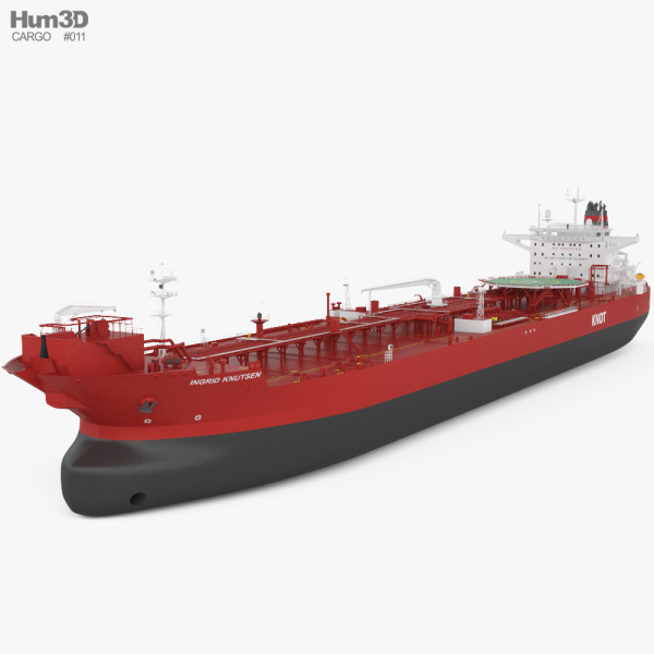 3D model of Shuttle Tanker Ingrid Knutsen