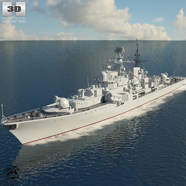 3D model of Sovremennyy-class destroyer