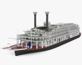 3D model of Steamboat American Queen