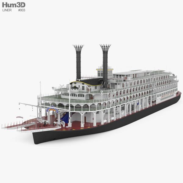Steamboat American Queen 3D model