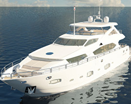 3D model of Sunseeker 30m Yacht