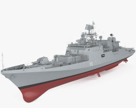 3D model of Talwar-class frigate