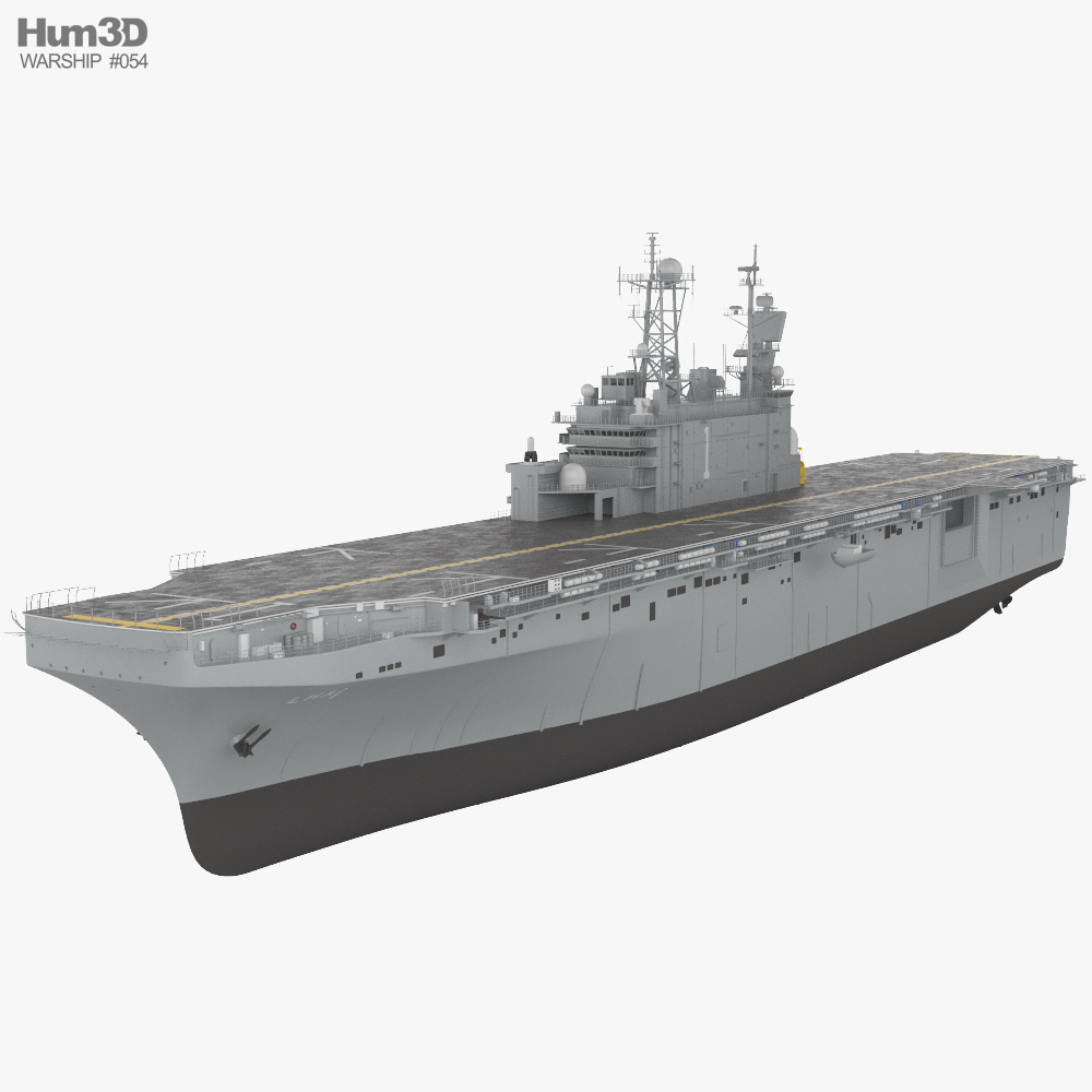 Tarawa-class amphibious assault ship 3D model