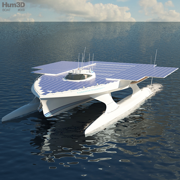 MS Turanor PlanetSolar solar-powered boat 3D model