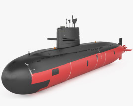 3D model of Type 039A submarine