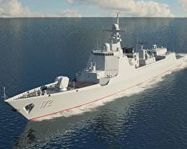 3D model of Type 052D destroyer