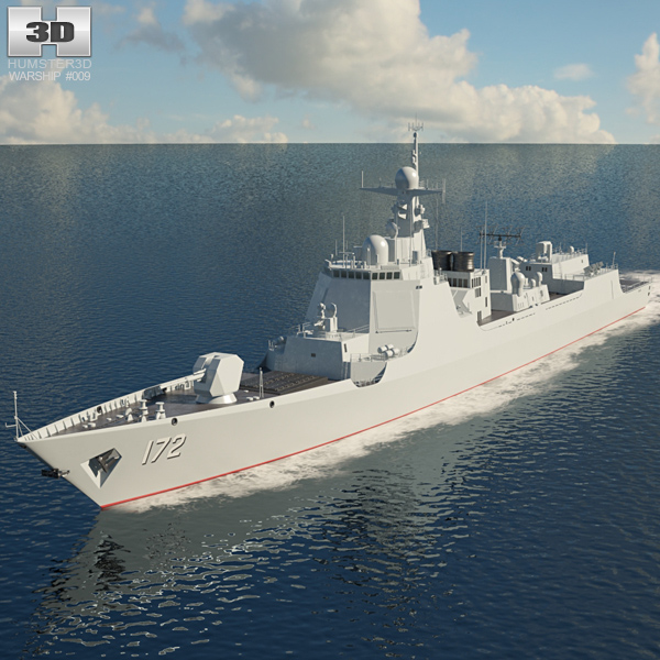 Type 052D destroyer 3D model
