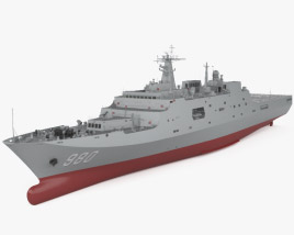 3D model of Type 071 amphibious transport dock