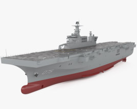 Type 075 landing helicopter dock 3D model