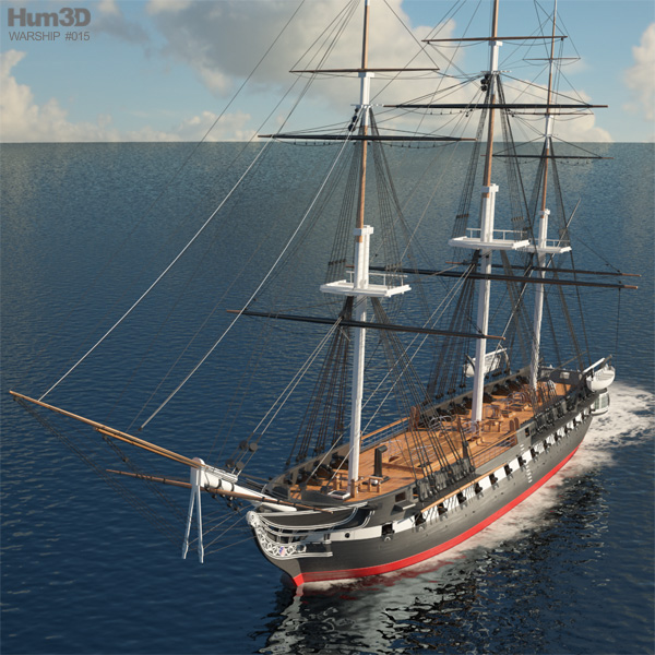 3D model of USS Constitution