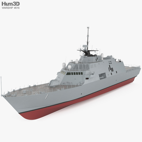 USS Freedom (LCS-1) 3D model