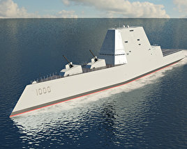 3D model of USS Zumwalt