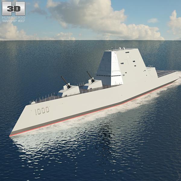 USS Zumwalt 3D model