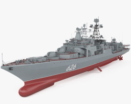 3D model of Udaloy-class destroyer