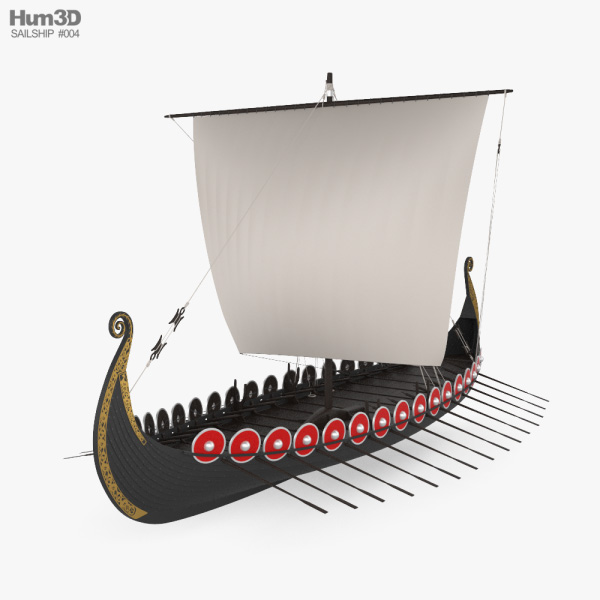 3D model of Viking Longship