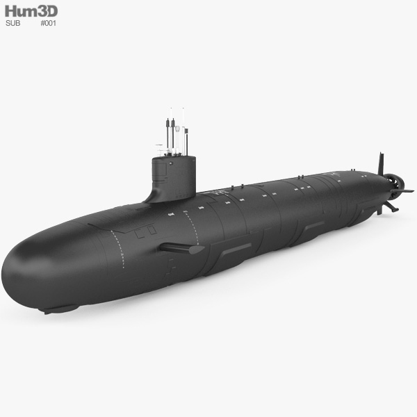 Virginia-class submarine 3D model