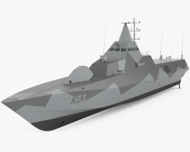 3D model of Visby-class corvette