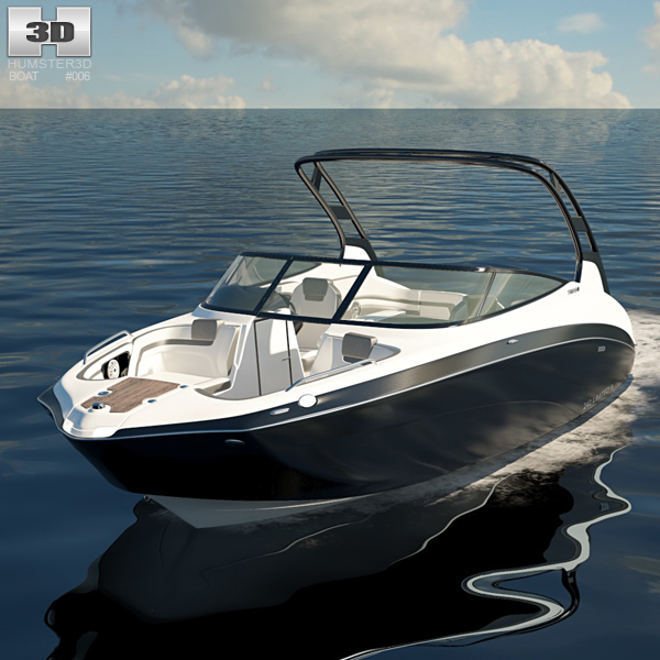 Yamaha 242 Limited S Jet Boat 3D model