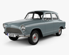 3D model of Simca Aronde P60 Elysee 1958