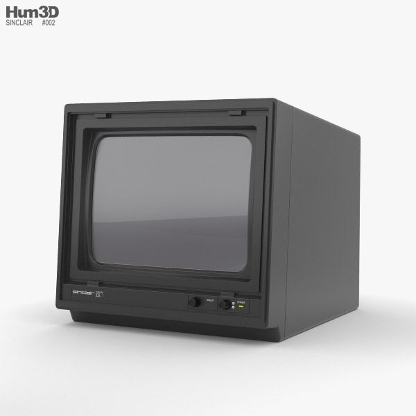 Sinclair QL Vision Monitor 3D model