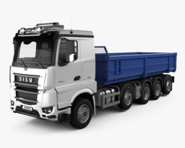 3D model of Sisu Polar Tipper Truck 2014