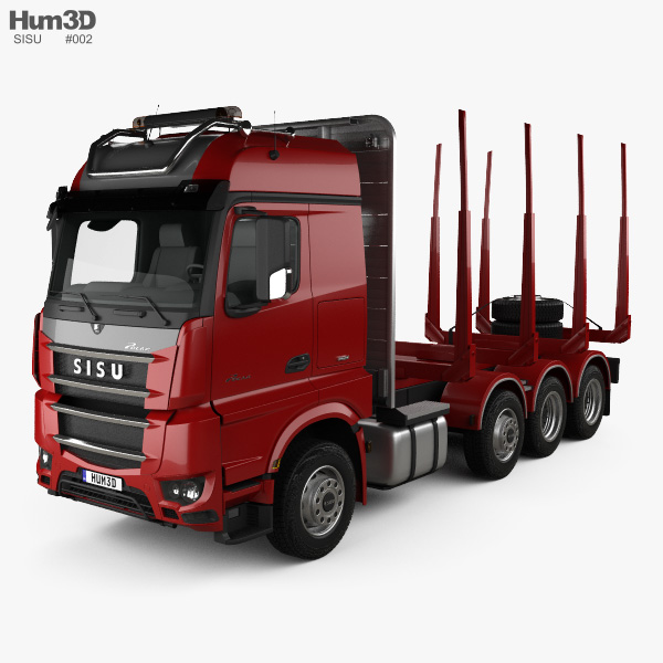3D model of Sisu Polar Timber Truck 2014