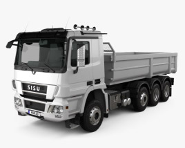 3D model of Sisu Polar Tipper Truck 2010