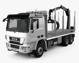 3D model of Sisu Polar Logging Truck 2010