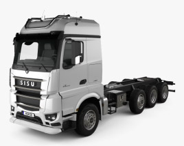 3D model of Sisu Polar Chassis Truck 4-axle 2014