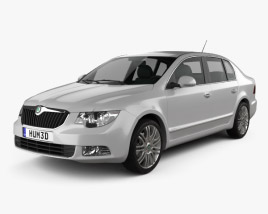 3D model of Skoda Superb Sedan 2011