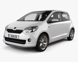 3D model of Skoda Citigo 5-door with HQ Interior 2013