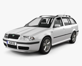 3D model of Skoda Octavia Tour Combi 2000