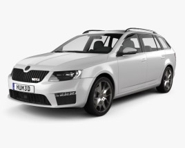 3D model of Skoda Octavia RS Combi 2013