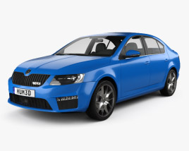 3D model of Skoda Octavia RS 2013