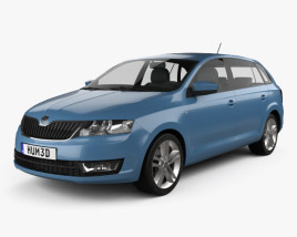 3D model of Skoda Rapid Spaceback 2014
