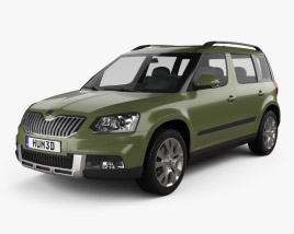 3D model of Skoda Yeti Outdoor 2014