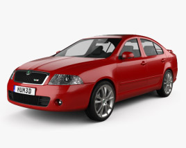 3D model of Skoda Octavia RS liftback 2005