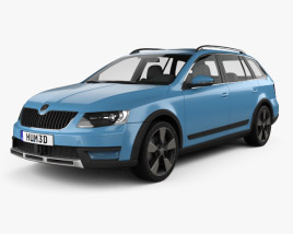 3D model of Skoda Octavia Scout 2014