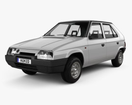3D model of Skoda Favorit 1988