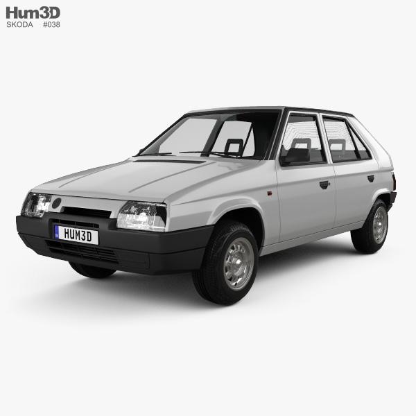 Skoda Favorit 1988 3D model