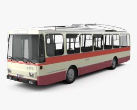 3D model of Skoda 14Tr Trolleybus 1982