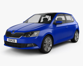 3D model of Skoda Fabia hatchback 2015